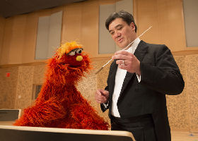 Alan Gilbert, Music Director of the NY Philharmonic with Sesame Street, People in Your Neighborhood